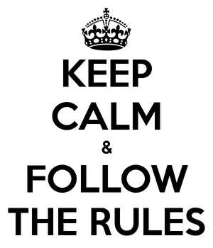 Yet more rules…