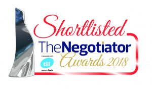Maxine Lester are shortlisted in 3 categories at The Negotiator Awards 2018