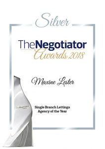 silver award for best single office in the uk for maxine lester