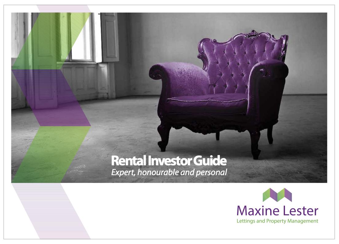 Maxine Lester Rental Investor Guide for Professional Landlords