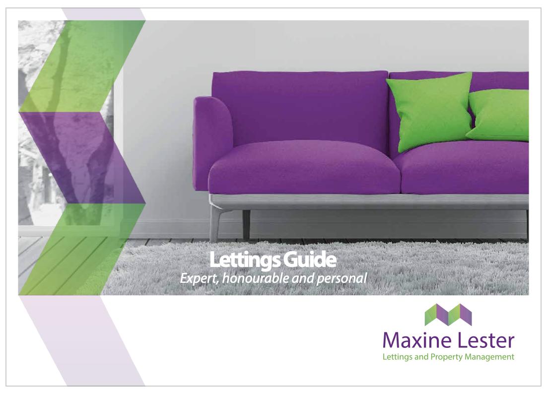 Maxine Lester Lettings Guide for new landlords