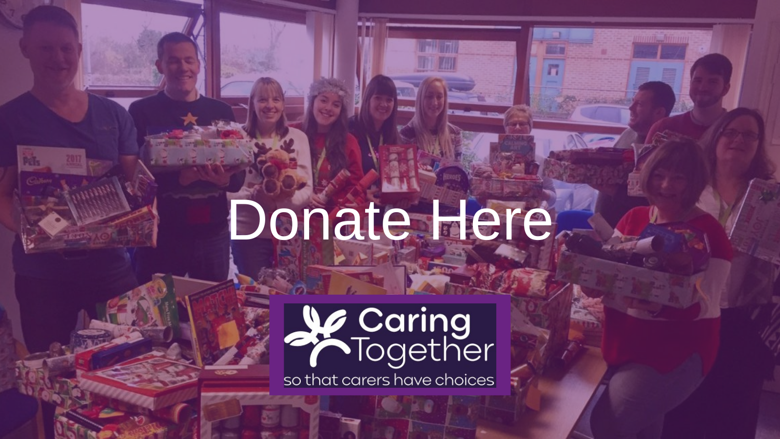 Caring Together Charity working with Maxine Lester to fundraise for local carers this Chrismtas