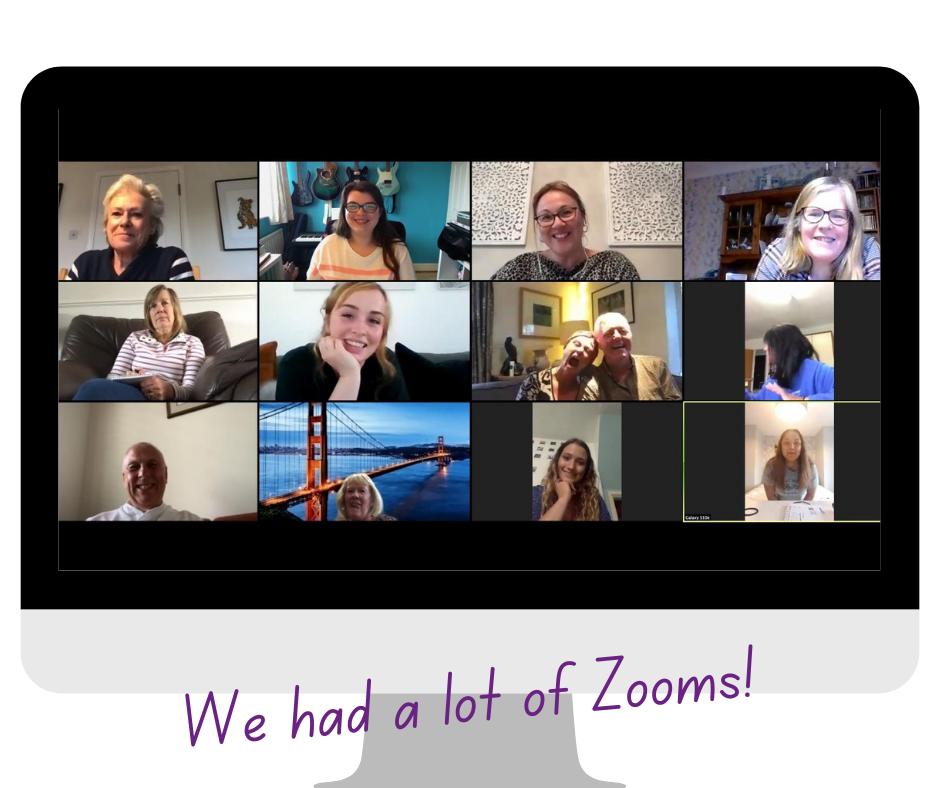 Screen grab of a Zoom meeting