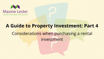 A guide to property investment part 4: buying a rental investment