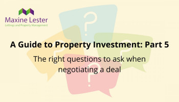 A guide to property investment part 5: Getting a good deal